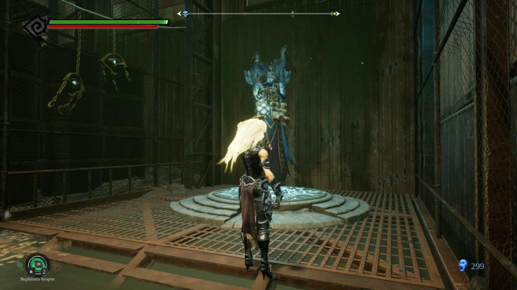 Darksiders 3'te öldürdüğümüz yaratıkların üstünden düşen ruhları Vulgrim adındaki NPC karaktere götürüyoruz.