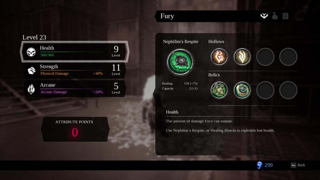 Oyun boyunca topladığımız Hollowlar ile farklı elemental özellikler elde ediyoruz.