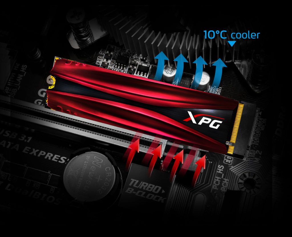 10 santigrat dereceye kadar daha serin çalışabilen XPG GAMMIX S11 Pro kullanıcılara performans kaybı yaşamadan uzun süreli kullanım sunuyor.