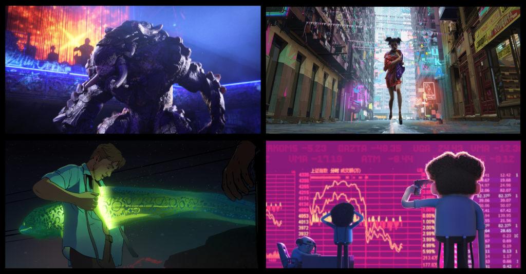 Love, Death & Robots'un yapım sürecinde, yetenekli sanatçılar, yönetmenler, oyuncular ve inovatif animasyon stüdyoları bir araya geldi.