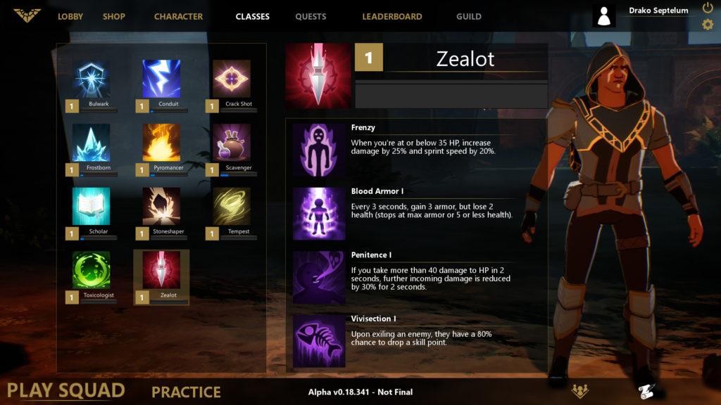 Spellbreak içerisinde 11 farklı sınıf seçimi ile beraber geliyor