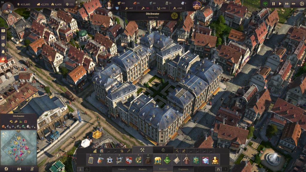 Anno 1800 binaları yakından bakınca son derece güzel ve canlı gözüküyorlar