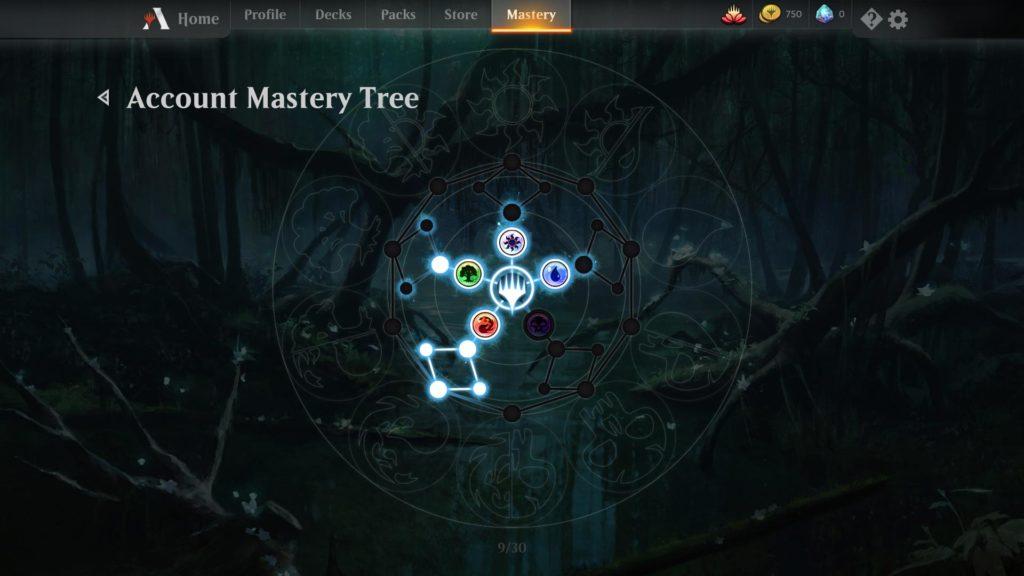 Mastery ağacında ilerledikçe yeni kartların açılıp otomatik olarak destenize ekleniyor